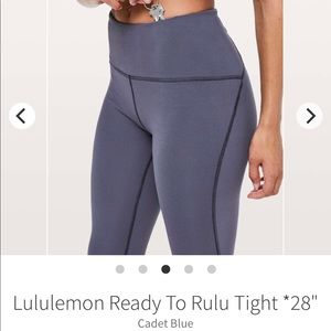 Lululemon ready to rulu tight 28''
